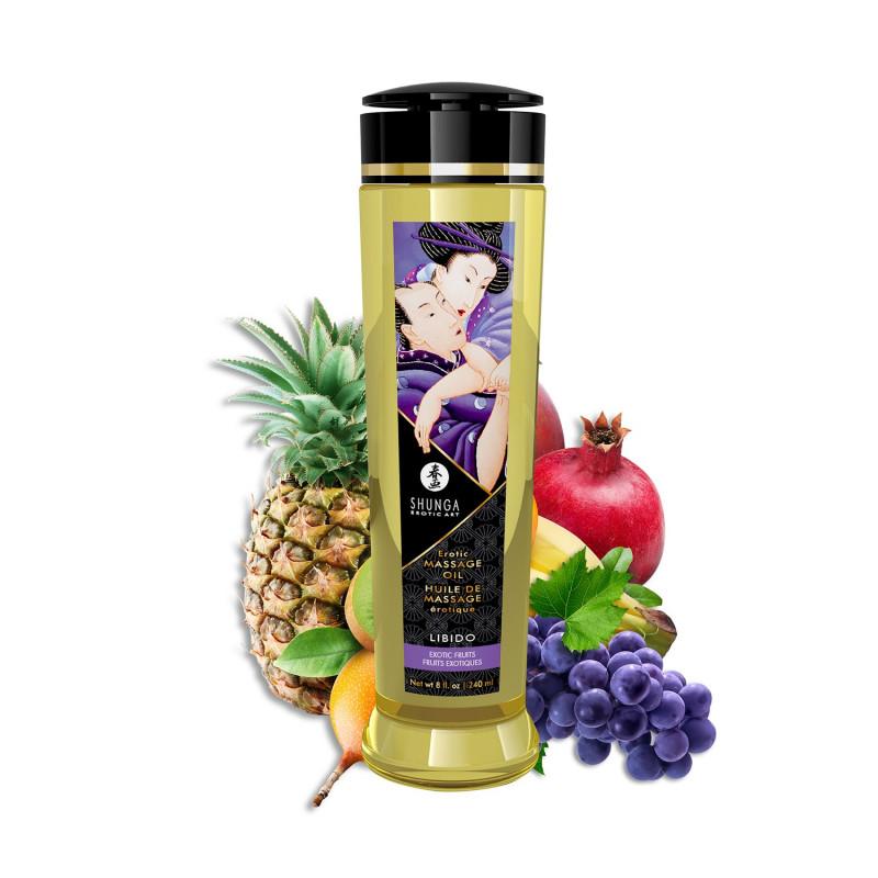 Huile de massage fruits exotiques aphrodisiaque Libido 240ml - CC1202