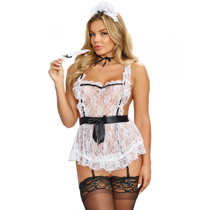 Costume sexy femme de chambre en tablier - DG9766