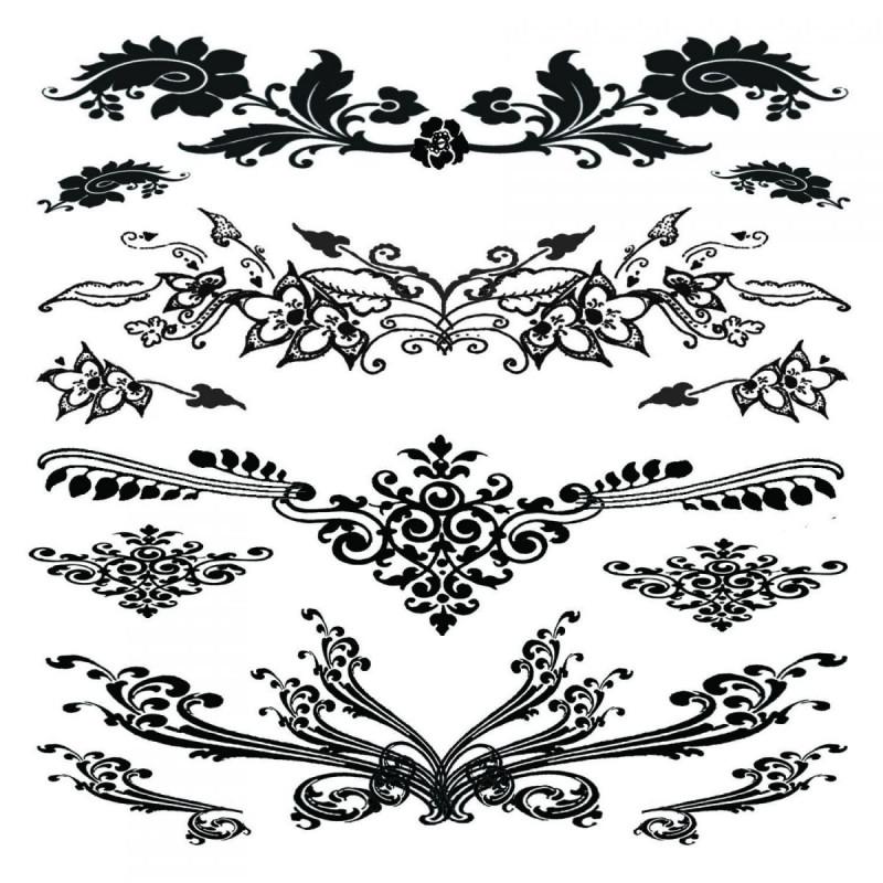 Tatouage éphémère - Plaque de 4 tattoos  - TATribal 2
