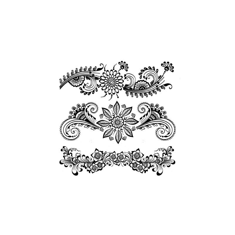 Tatouage éphémère - Plaque de 3 tattoos  - TATribal 3