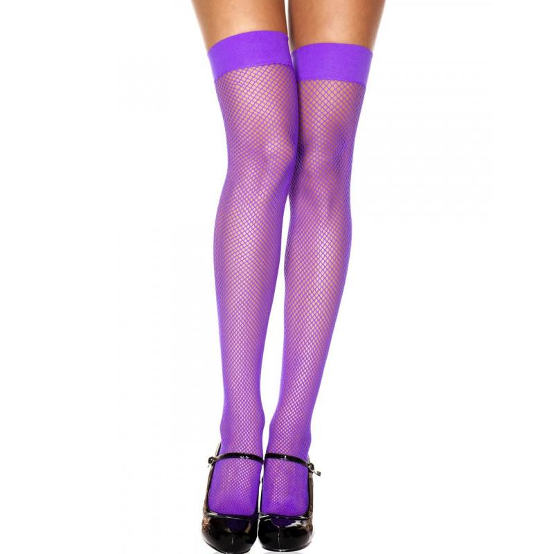 Bas autofixants résille violet - MH4900PUR