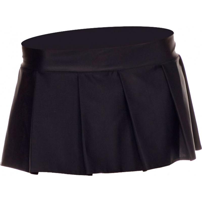 Mini jupe plissée  uni - ML25075BLK