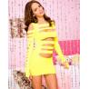 Mini robe  avec découpe horizontale sur le devant et les bras - ML6405NEY
