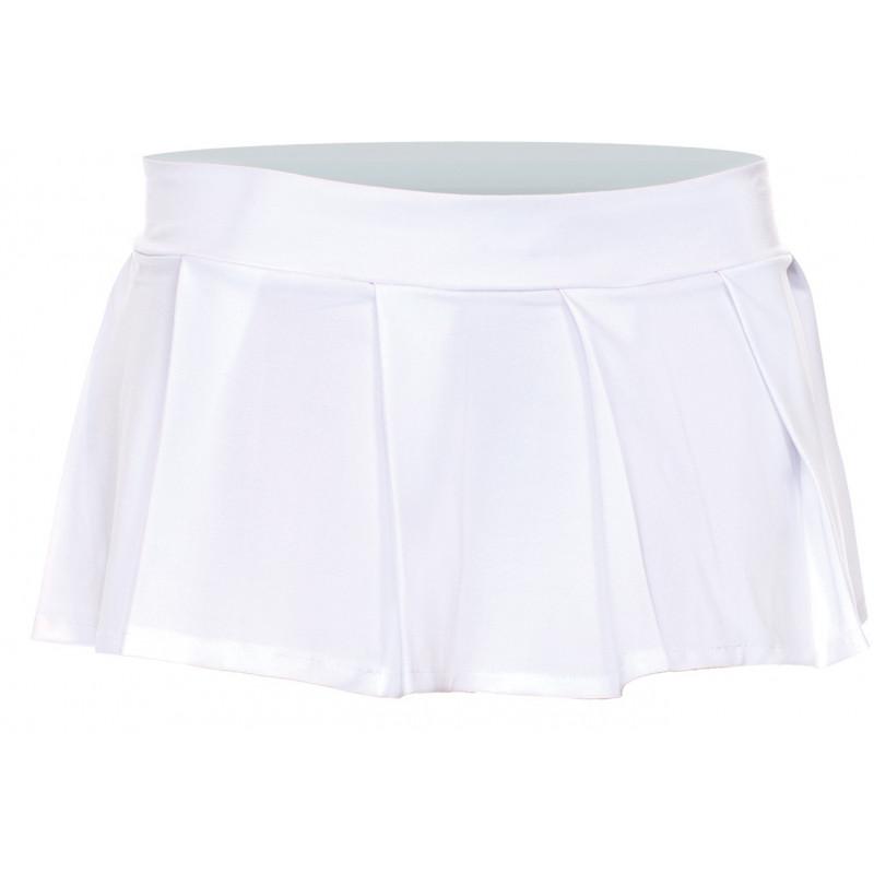 Mini jupe plissée  uni - ML25075WHT