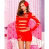 Mini robe  avec découpe horizontale sur le devant et les bras - ML6405RED
