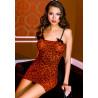 Mini robe  fines bretelles  imprimé léopard - ML6444REB