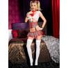 Costume 4 pièces Spicy School Girl  tour de taille attaché à la jupe   cravate   top   - ML70520REW