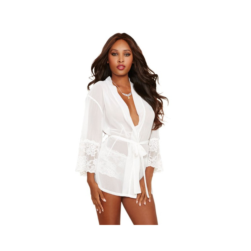 Robe mousseline Kimono  manches 3/4  Panty assorti - DG8740PEA