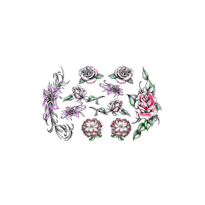 Tatouage éphémère - Plaque de 10 tattoos  - TATribal 10