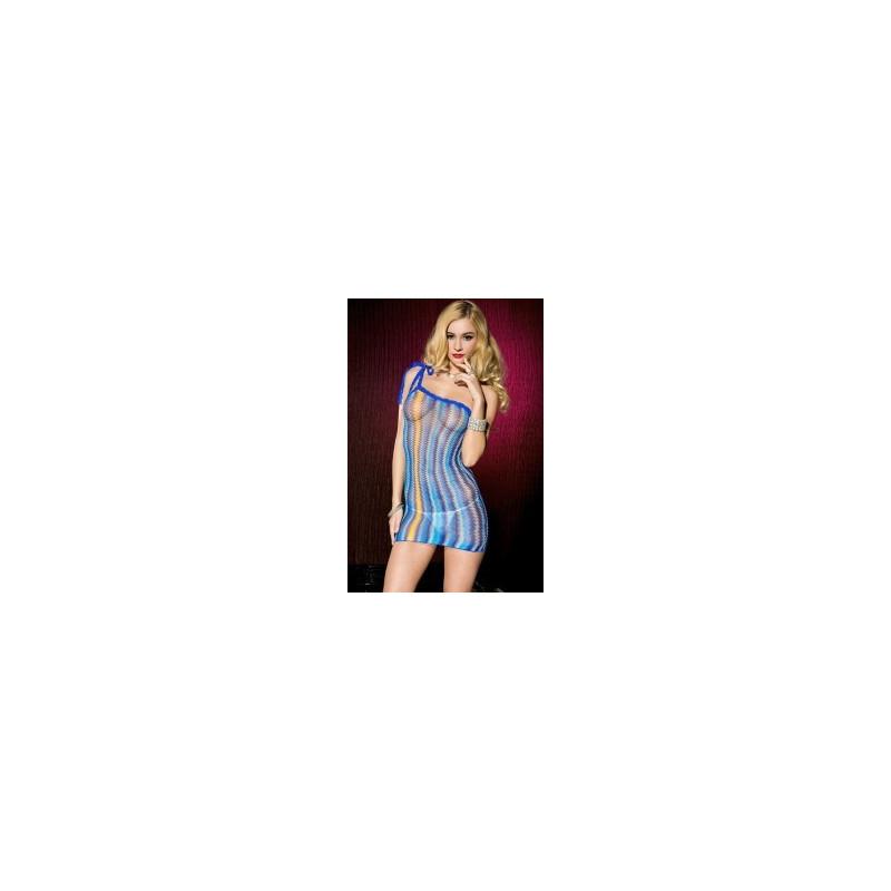 Mini robe 1 bretelle  en crochet - ML56113BLU