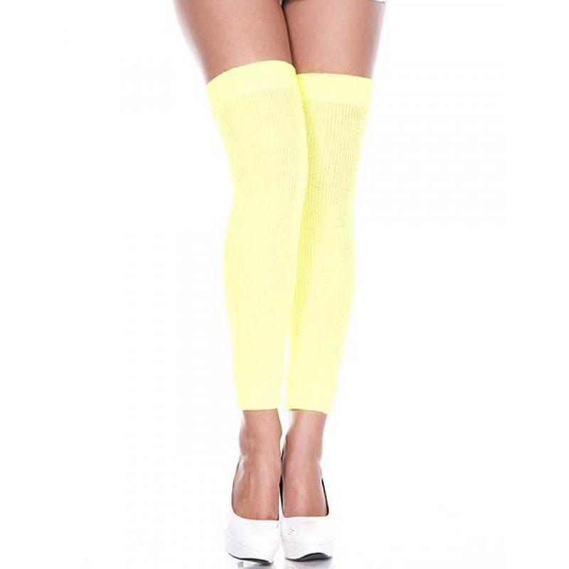 Jambières guêtres côtelées jaunes - MH4248NEY