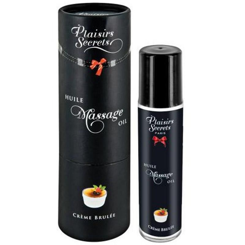 Huile de massage comestible crème brûlée 59ml - CC826005