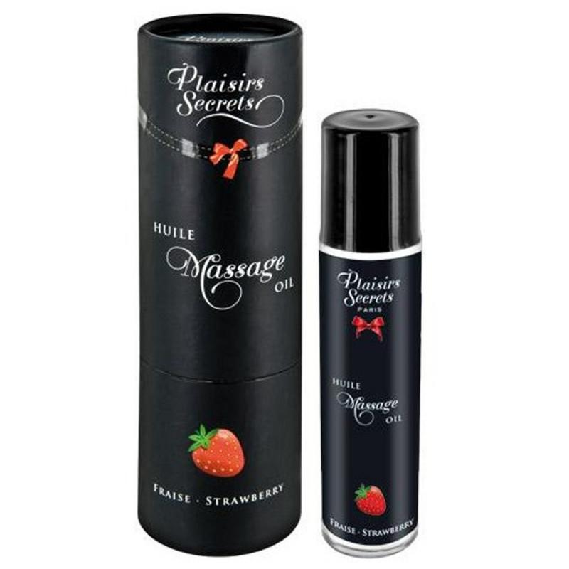 Huile de massage comestible fraise 59ml - CC826007