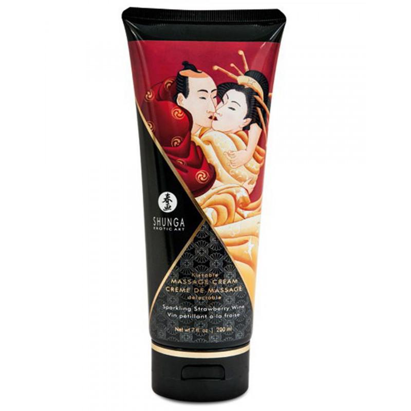 Crème hydrante de massage fraise vin pétillant 200ml - CC814108