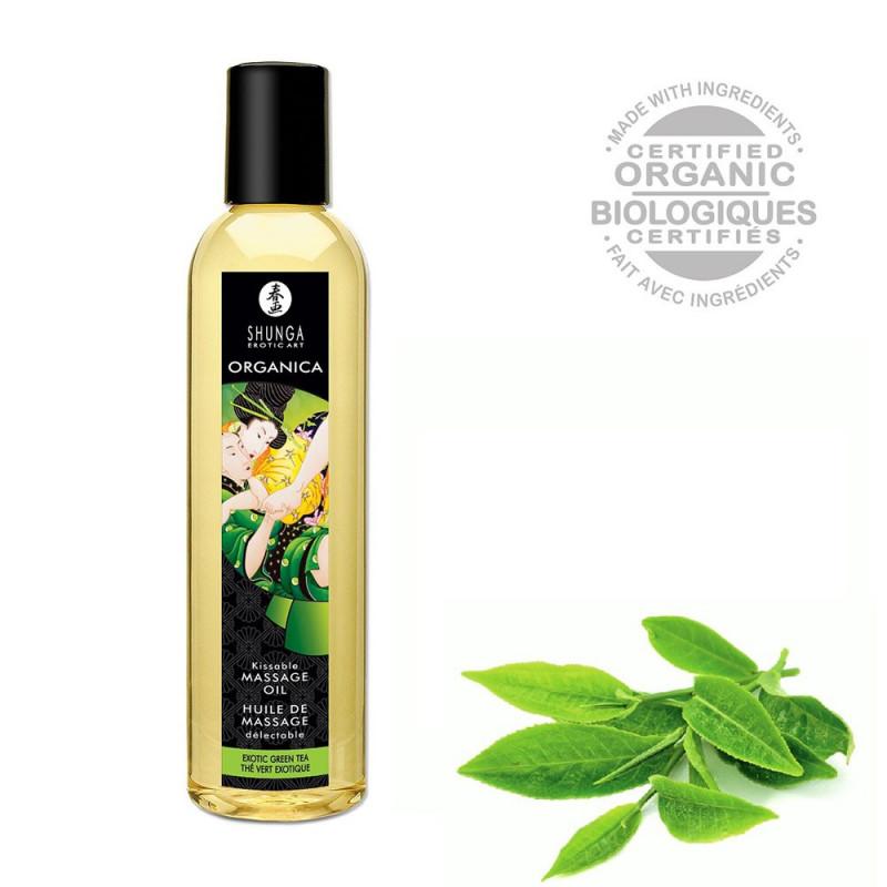 Huile de massage aphrodisiaque bio thé vert 250ml - CC811100