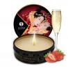Mini bougie de massage fraise vin pétillant 30ml - CC864608