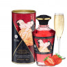 Huile chauffante fraise vin pétillant  comestible 100ml - CC812008
