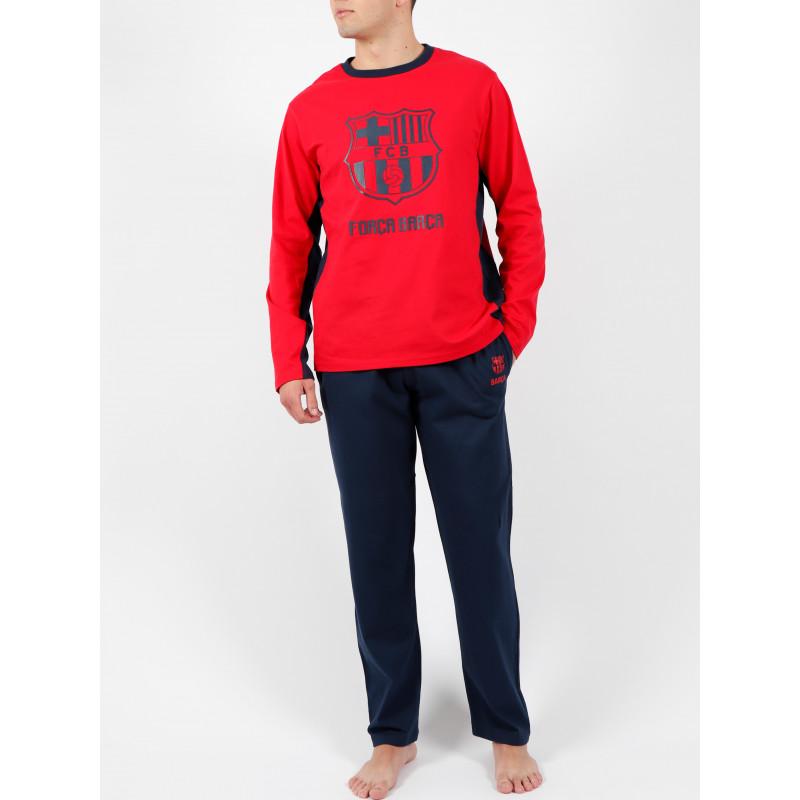 Tenue d'intérieur pyjama pantalon Bandas Força Barça rouge ADMAS For Men 54891AD