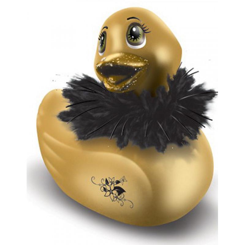 Canard vibrant 7 vitesses doré avec fourrure et pailettes - CC5040670070