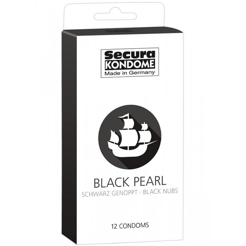 Préservatifs lubrifiés noirs avec réservoir Boîte de 12 - ORI4162310000