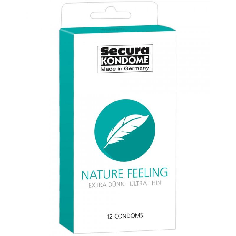 Préservatifs extras fins lubrifiés naturels avec réservoir Boîte de 12 - ORI4163550000