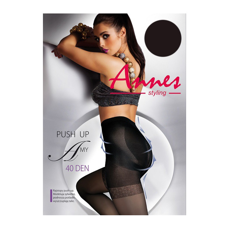 Collants Amy push-up 40 deniers noir