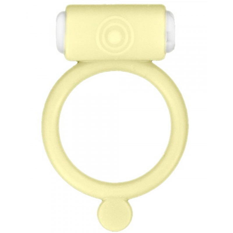 Cockring phosphorescent jaune vibrant avec stimulation du clitoris - CC570028