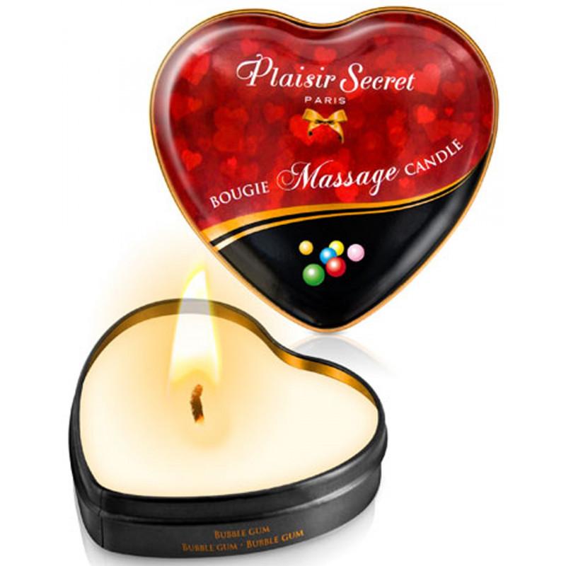 Mini bougie de massage bubble gum boîte coeur 35ml - CC826063
