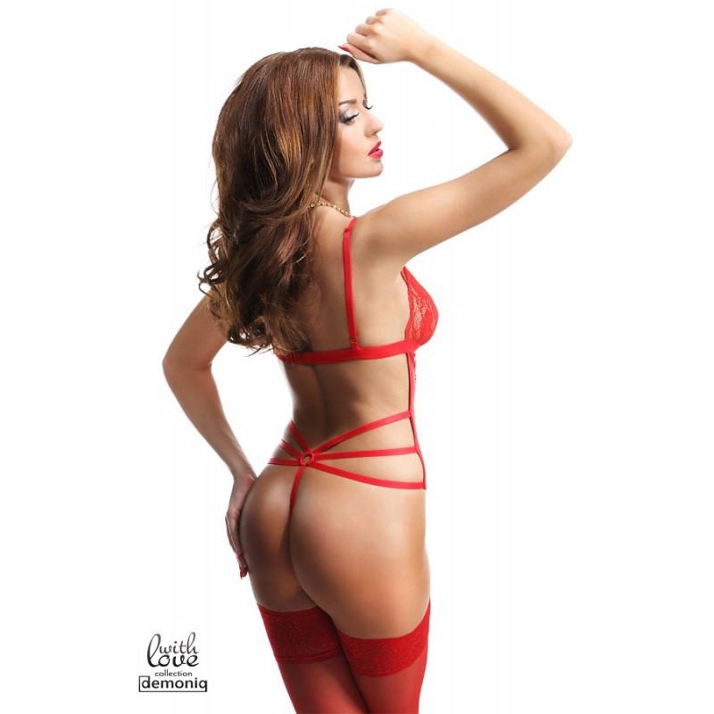 Body sexy 4 pièces Simone Demoniq premium