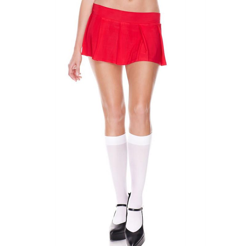 Mini-jupe plissée rouge uni - ML25075RED