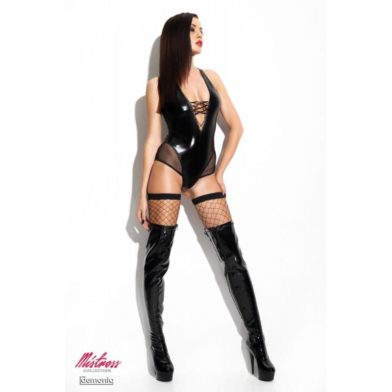 Body plus bas resille Claudia Premium Mistress collection Demoniq