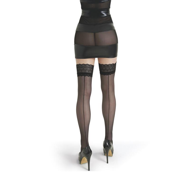 Bas couture Lola noirs 20 deniers LeggStory Paris