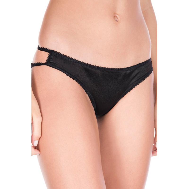 Culotte coquine noire effet cage sur les fesses - ML10010BLK