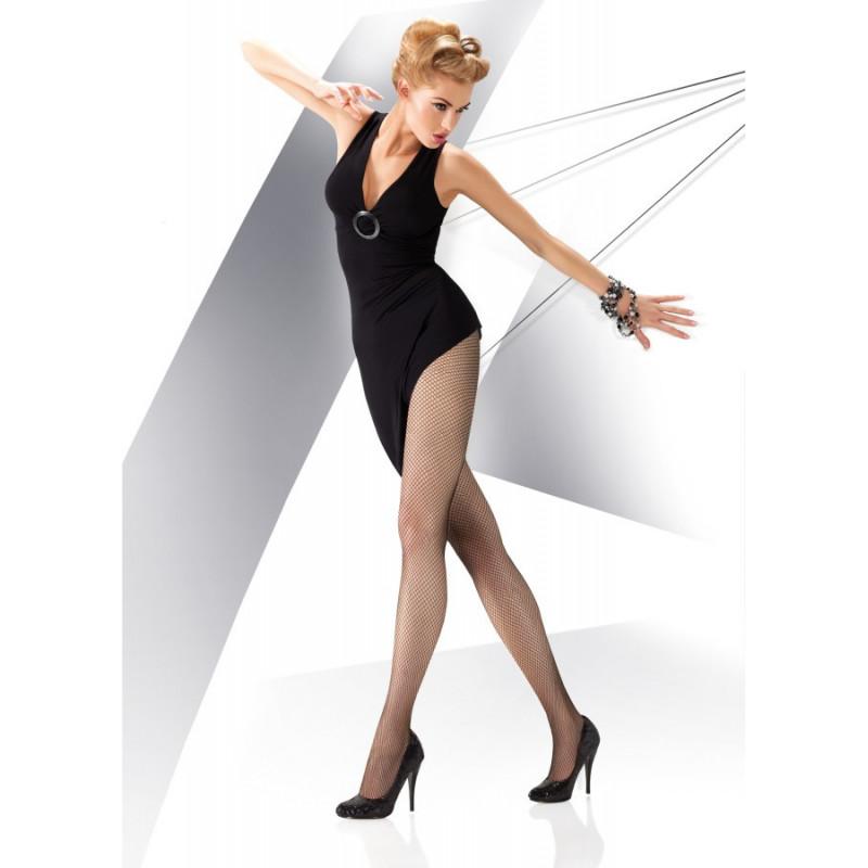 Collants résille rete moda noir