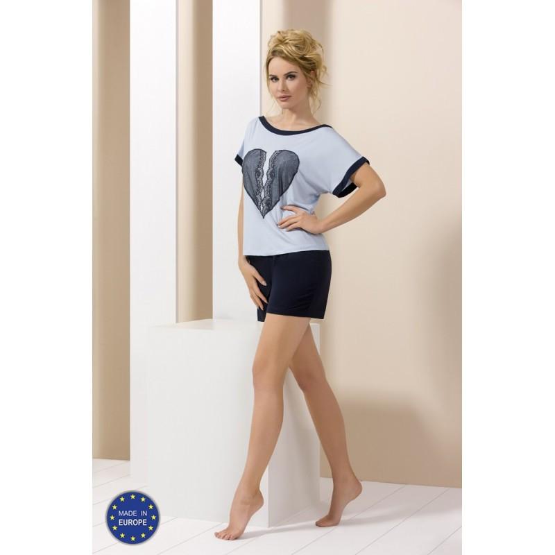 Pyjama short bleu