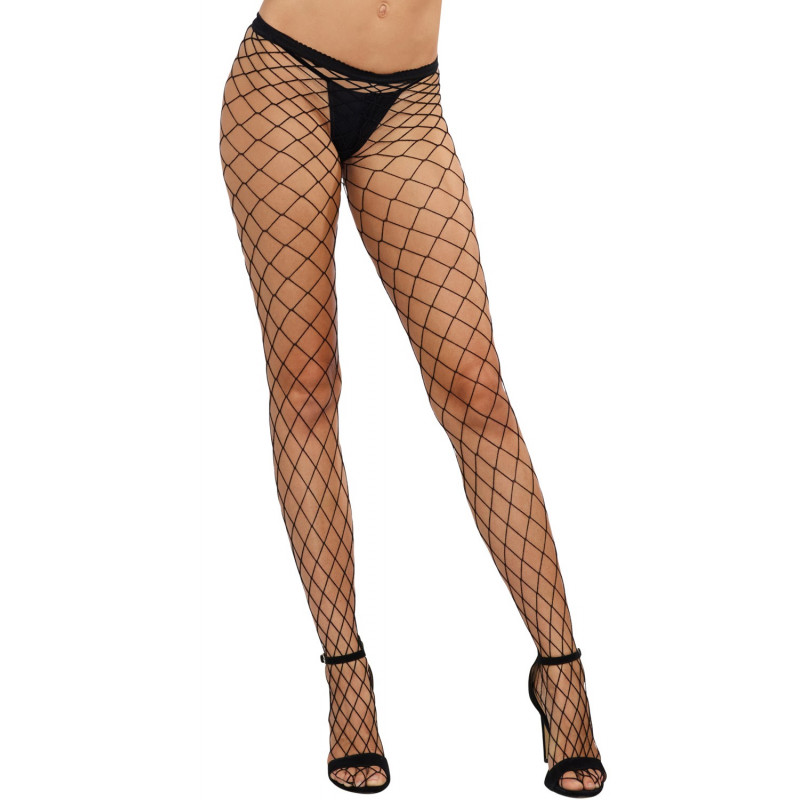 Collant sexy noir résille filet - DG0010BLK