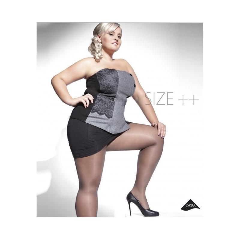 Collants grande taille Kiara Noir 20 deniers