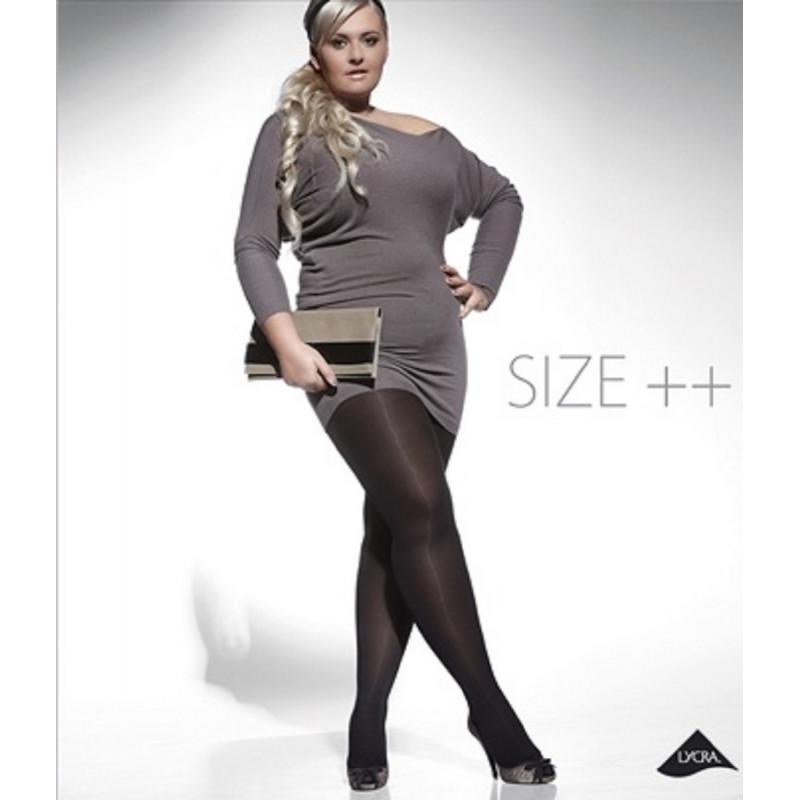 Collants grande taille Amy Noir 60 deniers
