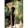 Robe longue bustier noire côtés lacés - SOH90049BLK