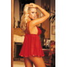 Nuisette babydoll rouge volante - SOH96121RED