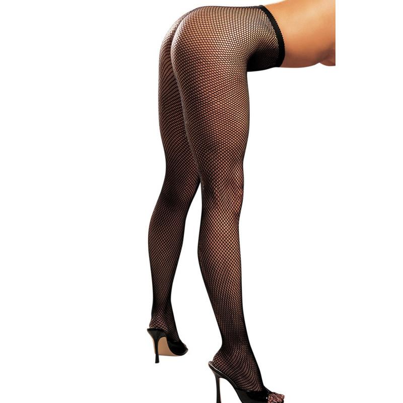 Collant noir sexy filet - SOH90011BLK