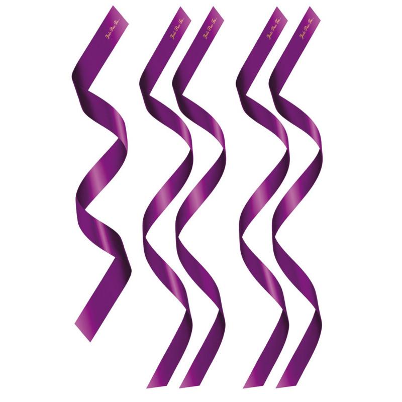 Set de 5 bandeaux satinés violets chevilles poignets et yeux - CC780202006000