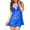 Nuisette bleue fine dentelle - ML56089BLU