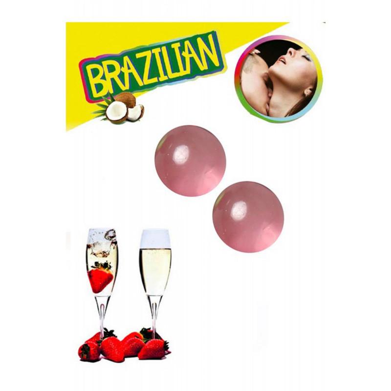 Boules de massage Brésiliennes fraise vin pétillant - BZ3852