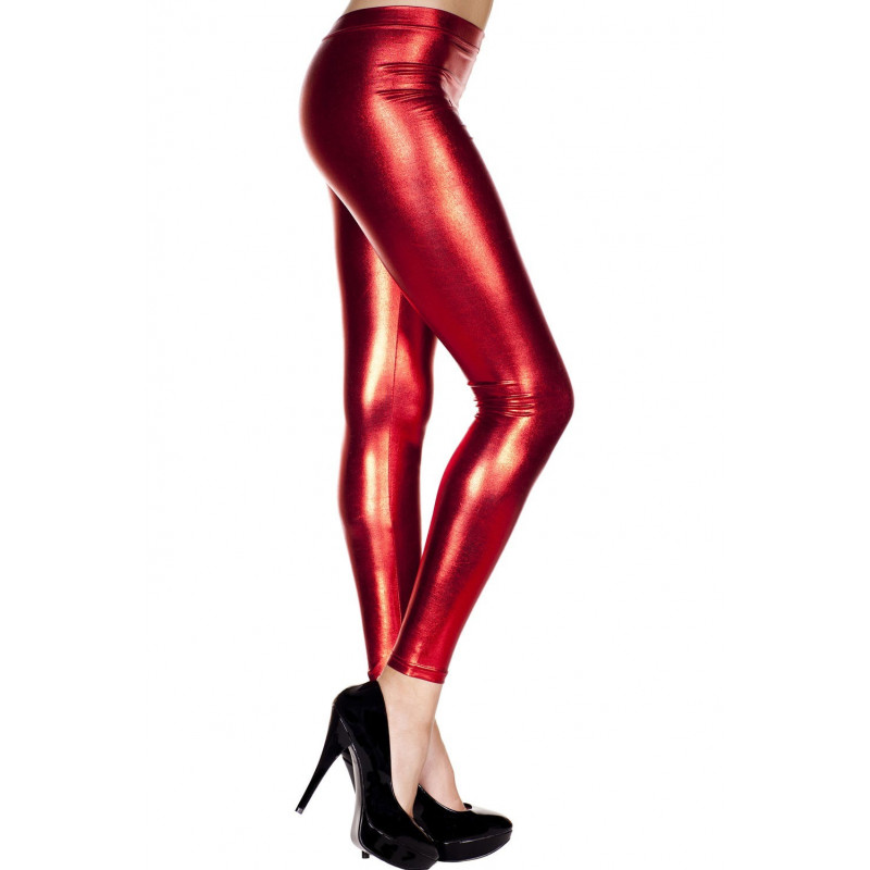 Legging rouge métallique - MH35110RED