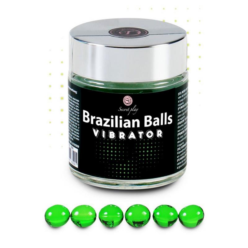 Pot de 6 boules Brésiliennes effet vibrant - BZ35921