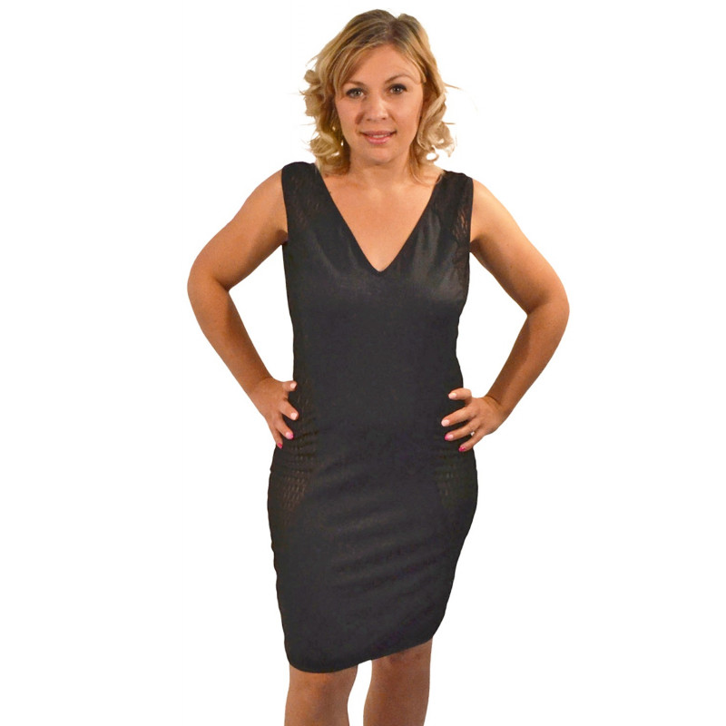 Robe cocktail double décolleté en V - LDL3