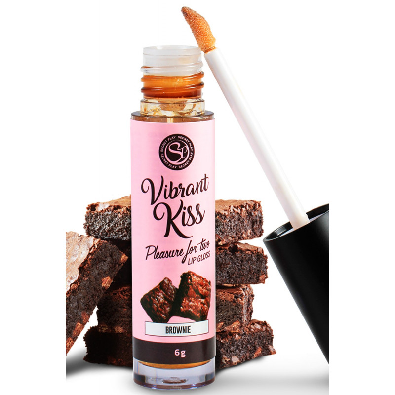 Gloss sexe oral vibrant au brownie - SP6553