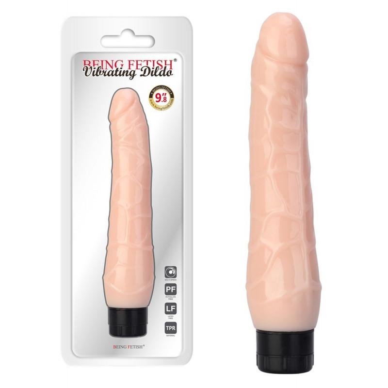 Vibromasseur long réaliste - 24 cm