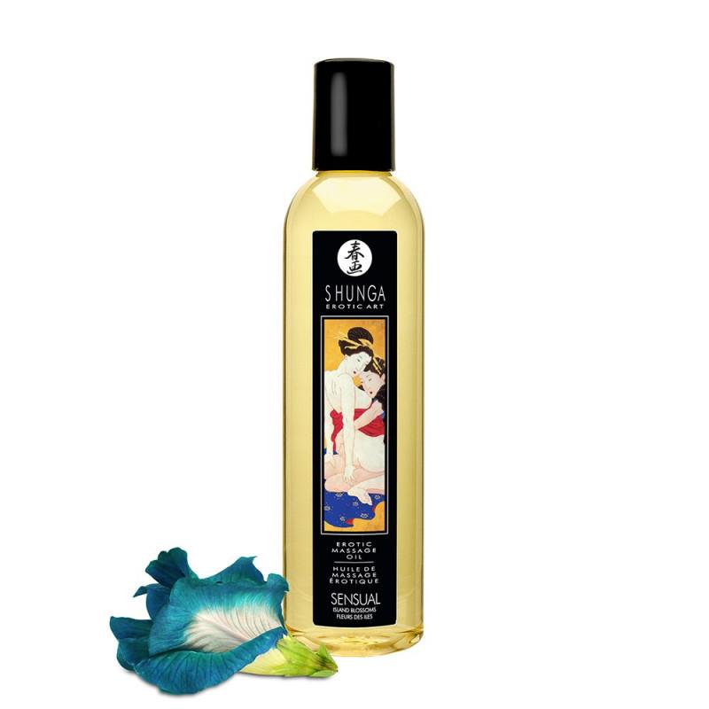 Huile de massage fleurs des iles aphrodisiaque 250ml - CC9010245